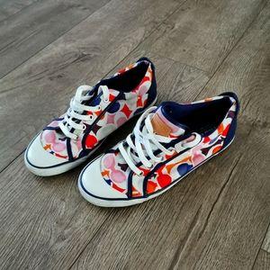 Coach multicolor tennis shoes